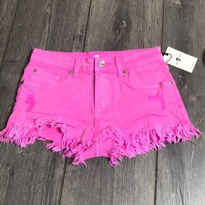 7 for all man kind girl shorts